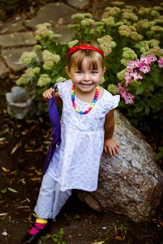 Lilah's 1st Day of Preschool, 2013