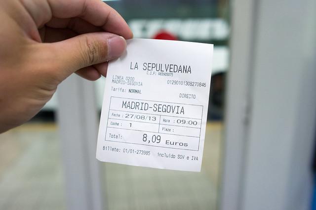 プリンシペ・ピオ駅 バス乗車券