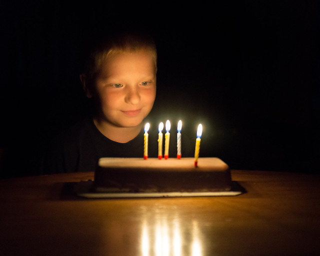 Child, Candles, Candlelight, Dark, Glow, Cake, Portrait, Boy