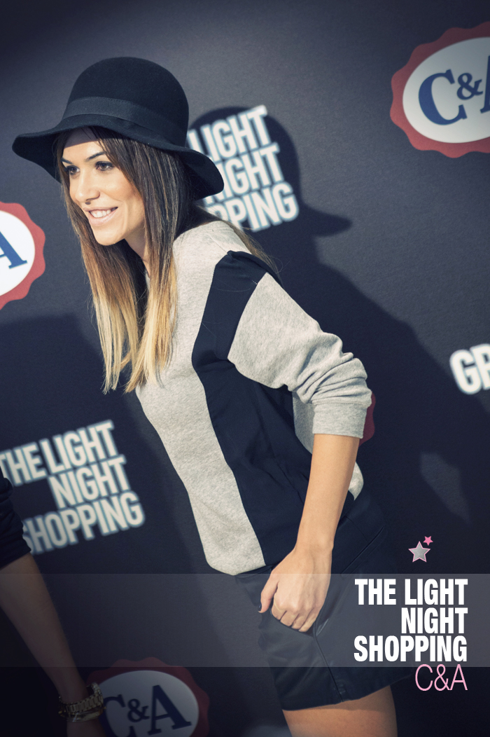 the light night shopping C&A opening gran via madrid barbara crespo ambassador outfit fashion bloggers