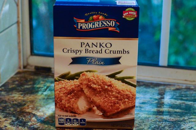 A box of Progresso Panko Bread Crumbs.