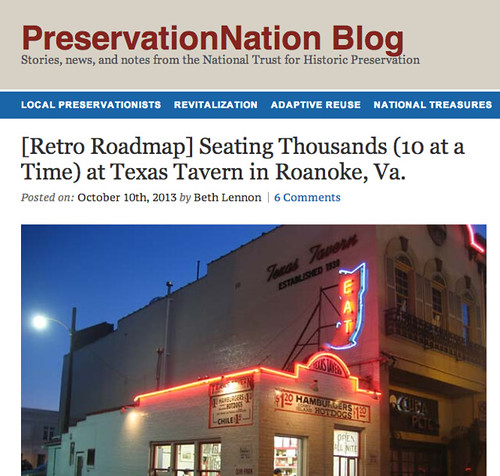Texas Tavern PreservationNation Blog - Retro Roadmap