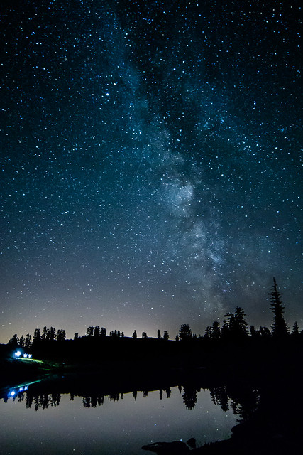Elfin Lakes Under The Stars