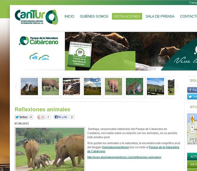 Diario de un Mentiroso en la web de turismo de Cantabria