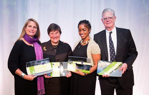 2013 Washington Area Women's Foundation Luncheon Visionary Award Winners: Anne Mosle, Marion Ballard, Sharon Williams, Rick Ballard