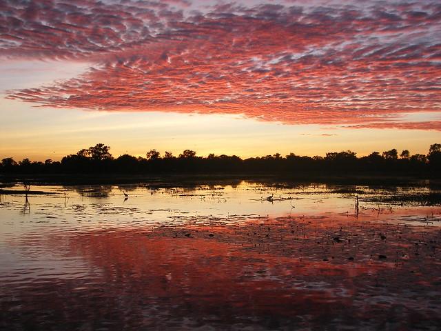 Amanecer en el Parque Nacional Kakadu. Territorio del Norte, Australia.