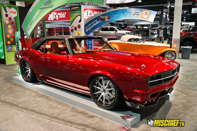 custom 1967 Camaro in BASF booth