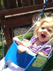 Breanna likes the swing!