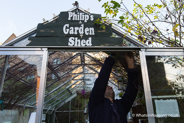 Philip's Garden Shed in the Wapping Project greenhouse