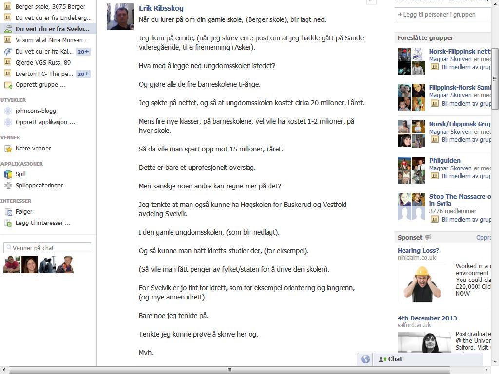 facebook berger skole