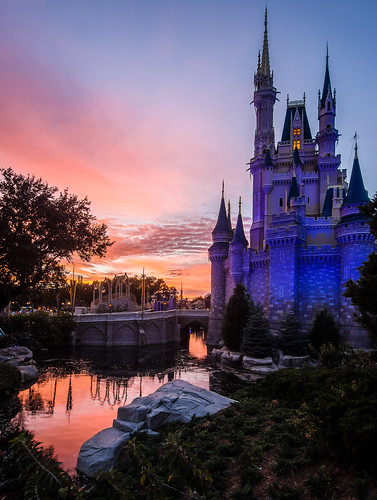 sunset night orlando florida cloudy olympus disneyworld wdw waltdisneyworld hdr magickingdom omd 2013 disneyphotos disneyphotography normlanier normlaniercom