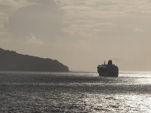cruiseship stthomassunrise