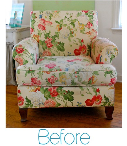 Before Floral Club Chair