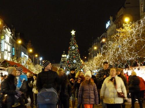 Mercado de Navidad de la Plaza de Wenceslao (Praga)