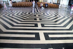 Labyrinth in Amiens Cathedral