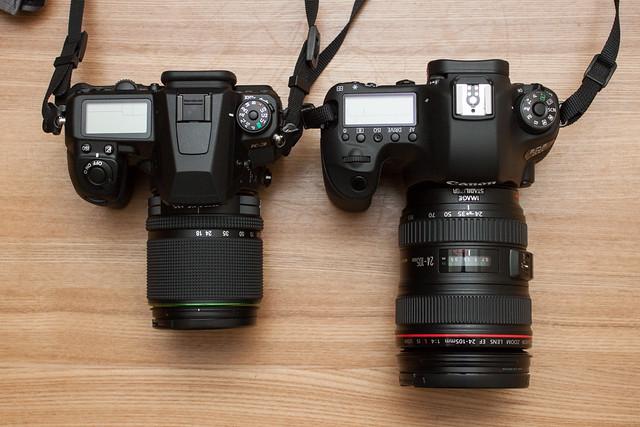 PENTAX K-3, Canon EOS 6D