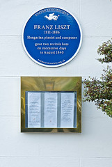 Photo of Franz Liszt blue plaque