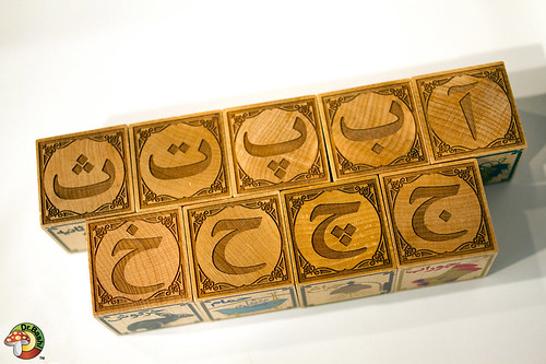 Dr. Bashi Persian alphabet wood blocks