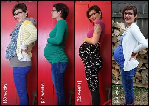 Bump Watch, 2013: Weeks 30-33.