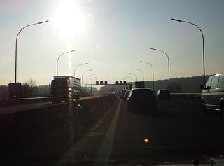 Bouchon sur l'autoroute au Luxembourg