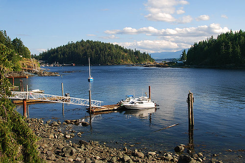 Grouse Island in Quathiaski Cove, Quadra Island, Discovery Islands, British Columbia, Canada