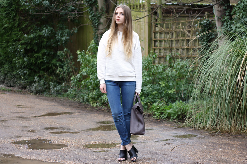 Topshop Boutique white sweatshirt