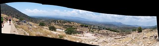 Mycenae archaeological site panorama