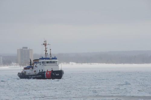 Katmai Bay breaks ice in St. Marys River