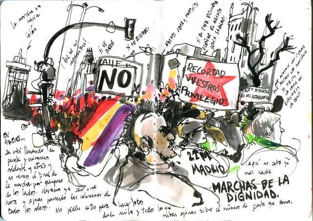 Marchas de la dignidad. 22M. Madrid