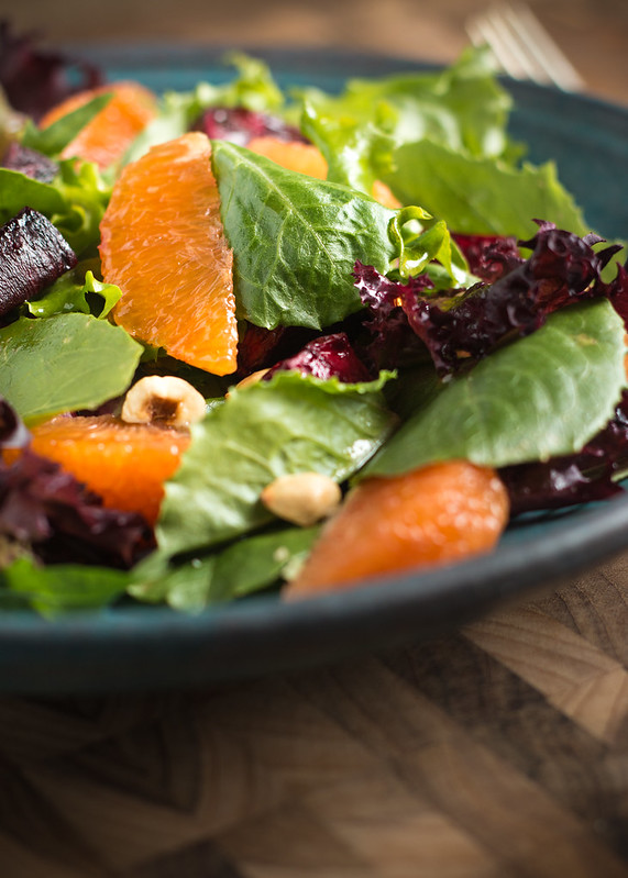 Spring Citrus Salad with Roasted Beets and Hazelnuts