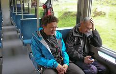 Pociag do Grindelwald. Paweł Kunachowicz (przewodnik IVBV) i Paweł Misiurewicz