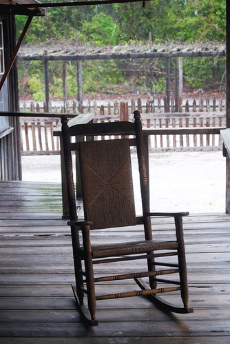 Sitting on the Chesser Homestead porch