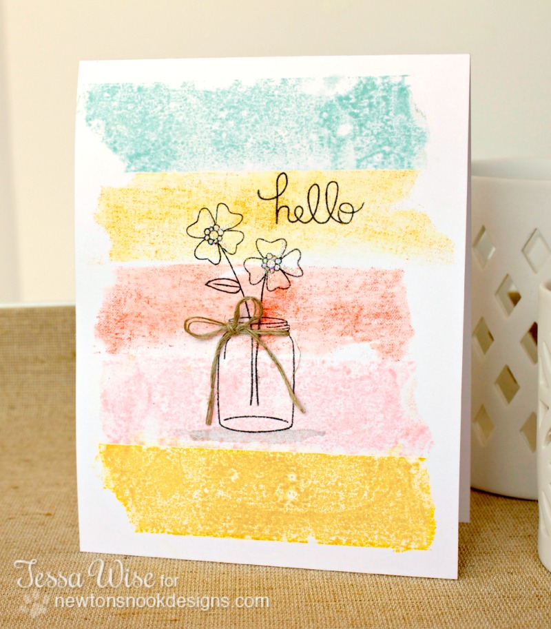Newton's Nook Hello Card 1- Tessa Wise