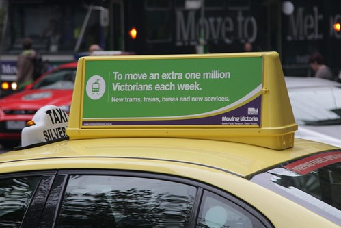 Rooftop taxi advertising from 'Ultimate Media'