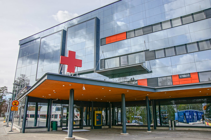 Main entrance to new hospital building