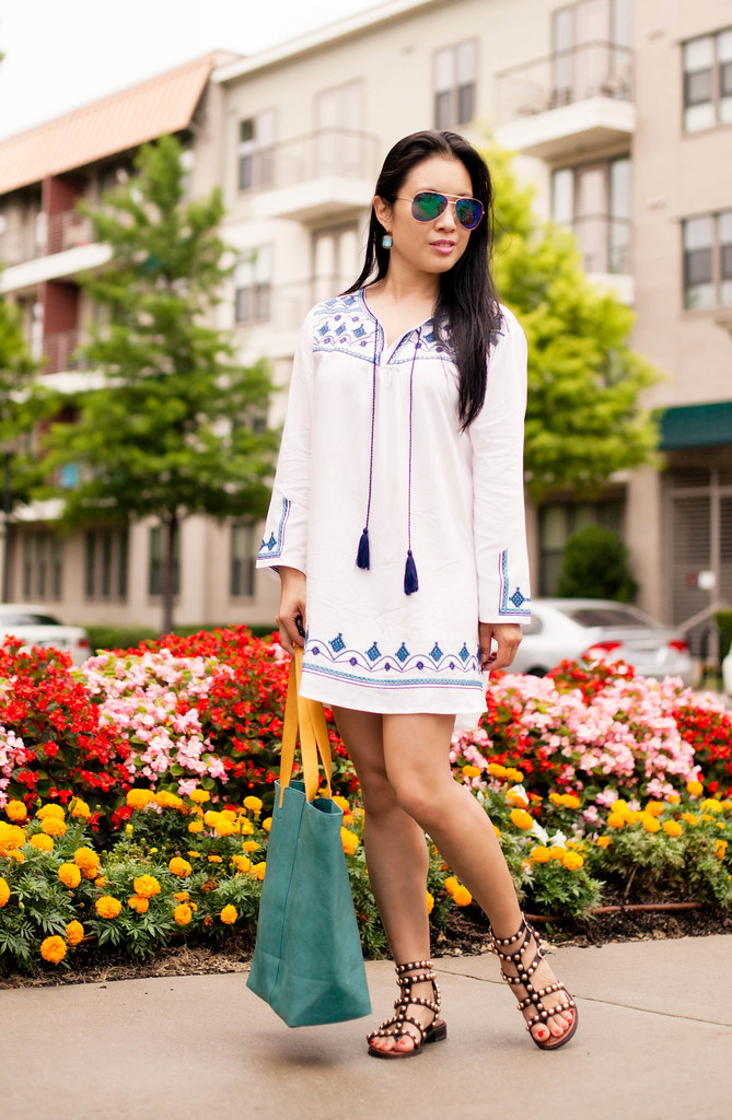 ce4c84a0f0 ... studded cute & little blog   petite fashion   embroidered beach cover  up tassel dress, studded