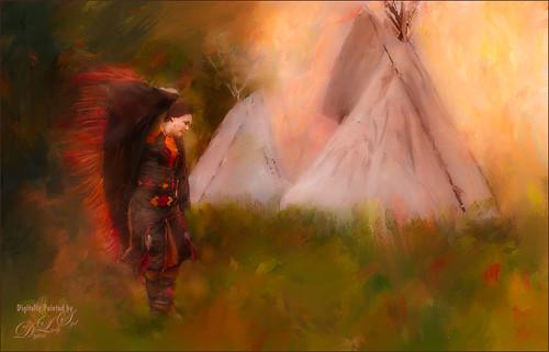 Image of a Native American Dancer dancing