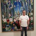 Me in front of one of my favorite paintings in the museum by Daniel Greene
