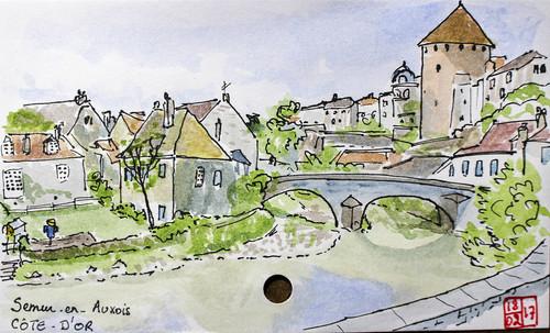 croquis sketch aquarelle watercolor france