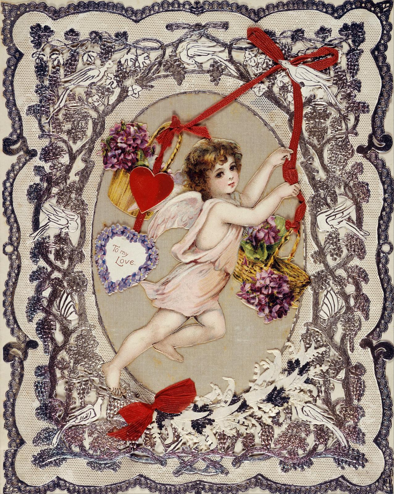 Victorian Valentine Card, 1870