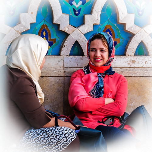 Moroccan women chatting