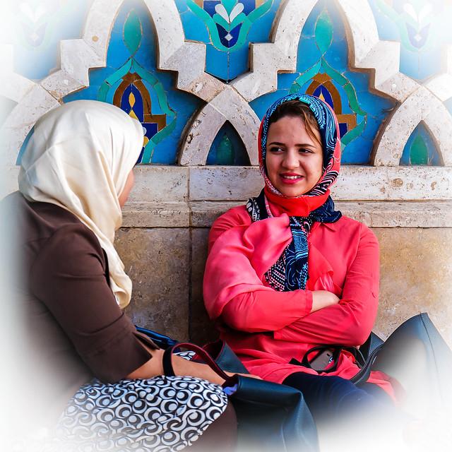 Moroccan women chatting