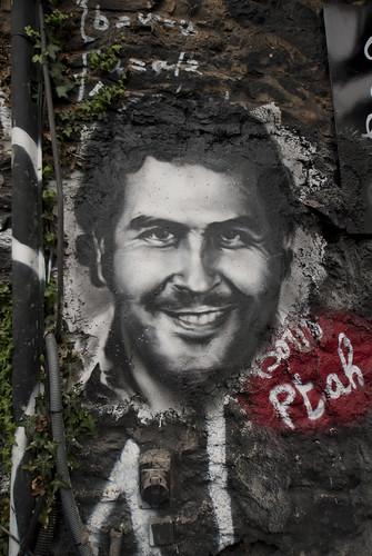 Pablo Emilio Escobar Gaviria, painted portrait DDC_8207