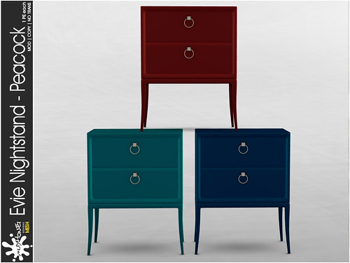 mudhoney evie nightstand peacock