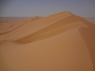 dunas do deserto de de Ramlat as Sahmah