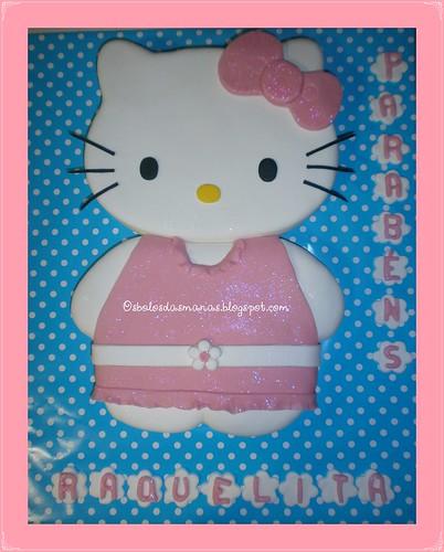 Bolo Hello Kitty Vestido Rosa Raquel by Osbolosdasmanas