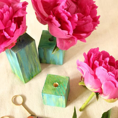 Watercolor Bud Blocks for Design*Sponge