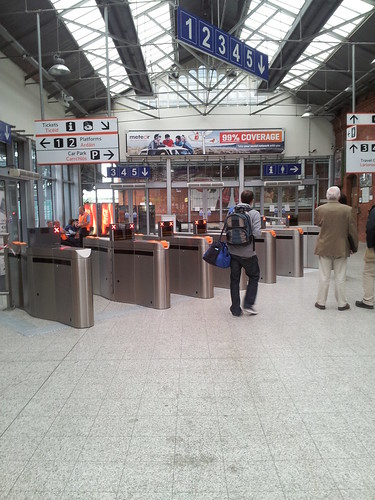 New ticket barrier in Kent Station