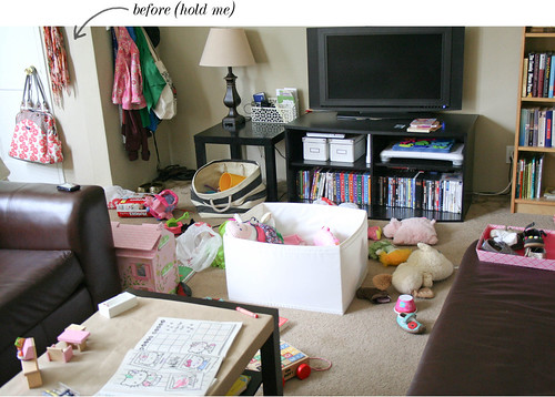 The living room before Eisley's nap.