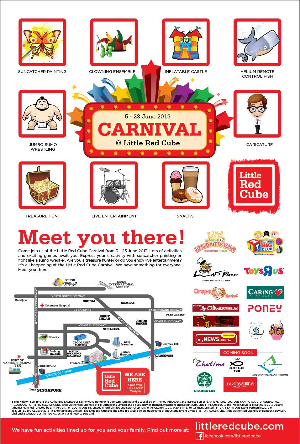 Carnival Little Red Cube di Nusajaya Johor
